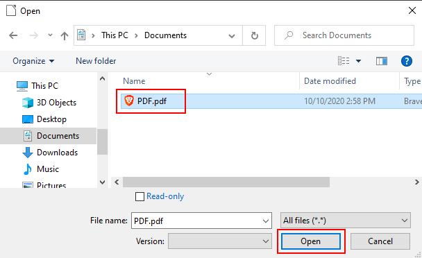 Open a PDF file in LibreOffice