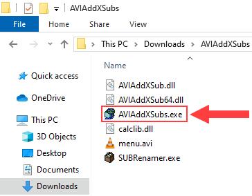 Open AVIAddXSubs