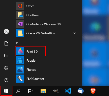 Open Paint 3D in Windows 10
