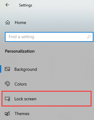 Open Windows 10 Lock screen settings