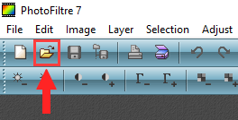 PhotoFiltre open file button
