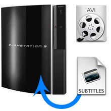 How to play AVI video files with subtitles on a PS3