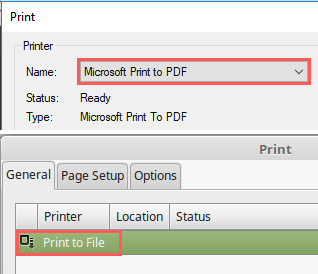 print to pdf in firefox