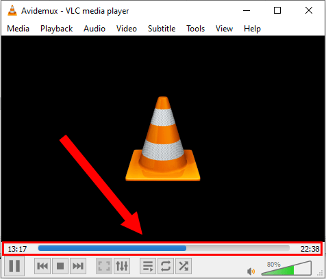 Progress bar in VLC media player