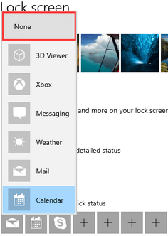 Remove calendar notifications from Windows 10 lock screen