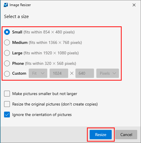Resize multiple images at once in Windows 10 using Microsoft PowerToys