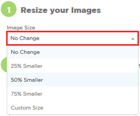 Resize options for images on imageresize.org