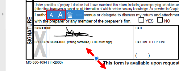 Resize signature in Adobe Acrobat Reader DC