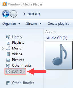 Rip a audio CD in Windows 10 using Windows Media Player