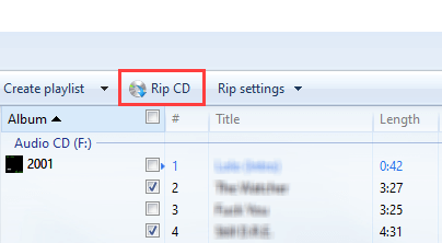 Rip a CD with Windows Media Player