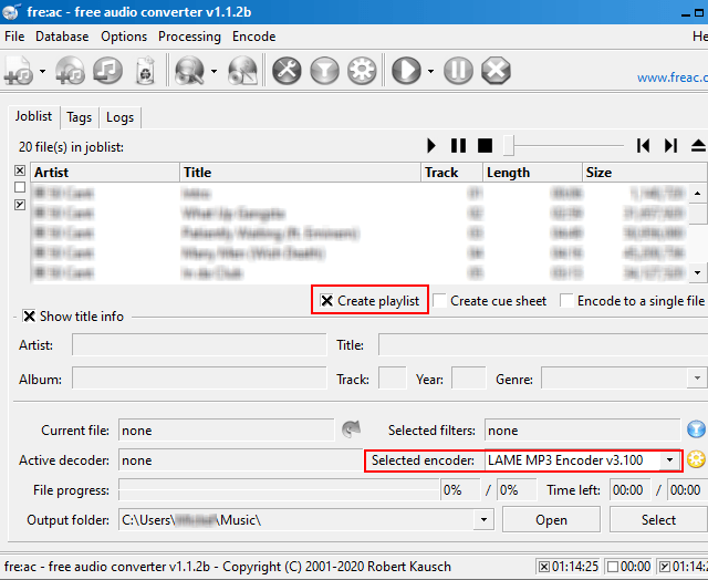 Rip an Audio CD to MP3 with fre:ac
