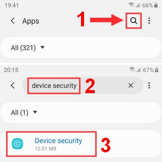 Samsung Galaxy Device Security