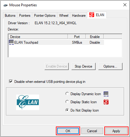 Save Mouse Properties settings