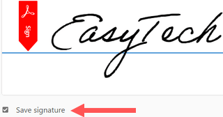 save signature in adobe acrobat reader dc