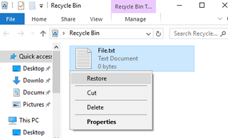 search for deleted file in windows recycle bin