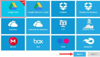 select cloud storage service in multcloud
