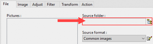 select source folder in photofiltre