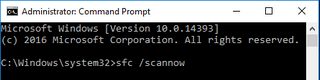 sfc /scannow command