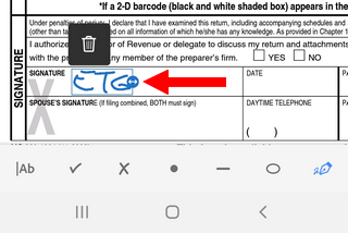 Sign a PDF document in the Adobe Acrobat Reader app on Android