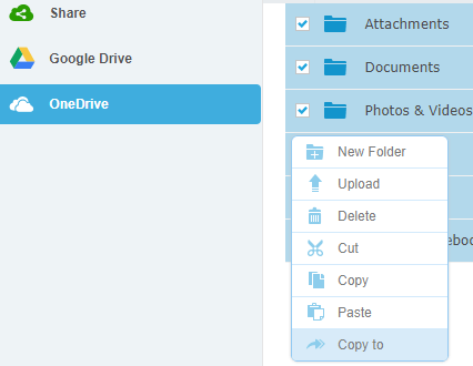 transfer files from onedrive to google drive using multcloud