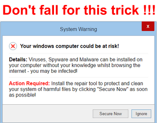 trick to install a computer virus on your computer
