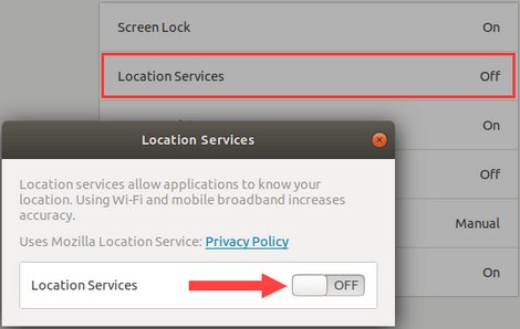 Turn on Location Services in Ubuntu