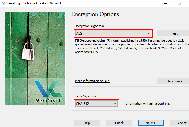 VeraCrypt encryption and hash algorithm