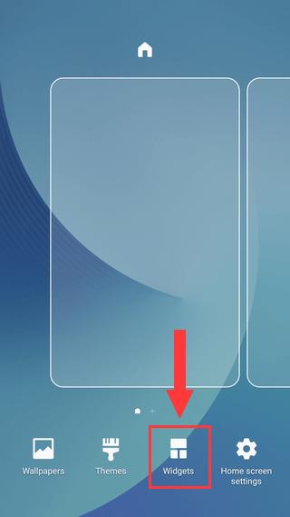 Widgets on Samsung Galaxy