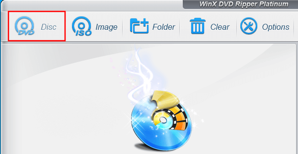 WinX load disc button